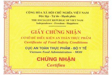 Thủ tục cấp giấy phép vệ sinh an toàn thực phẩm tại Đà Nẵng