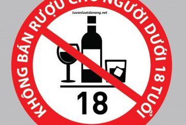 Cấm bán rượu cho trẻ em dưới 18 tuổi kể từ ngày 1/11/2017
